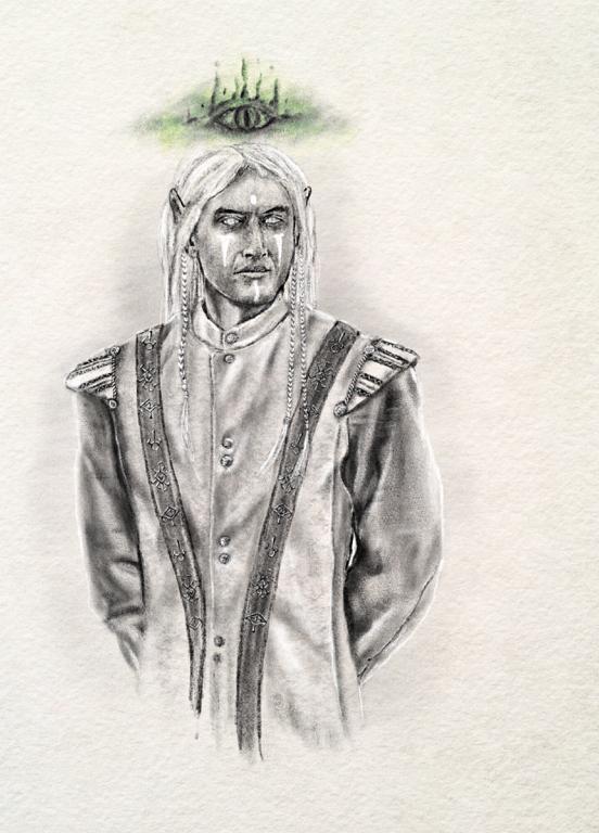 an illustration of an drow elf