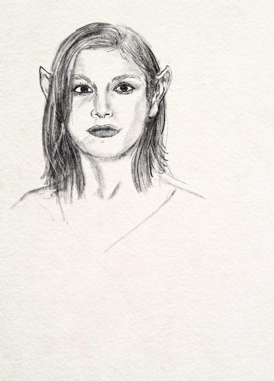 illustration of an elf girl