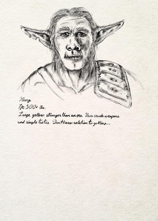 an illustration of Klarg the bugbear